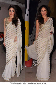 Kareena Kapoor 60 GM Georgette Saree In Off White Colour NC229
