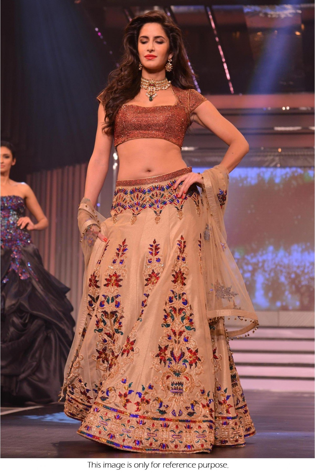 Bollywood Style Katrina Kaif Net and Silk Lehenga In Cream Colour NC413